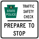 Image of a Traffic Safety Check Sign (I30-1)