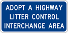 Image of a Adopt-A-Highway Interchange Area Sign (I40-3)