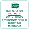 Image of a Recycling Services Sign (I45-1)