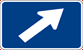Interstate 45 Degree Right Turn Marker (M6-2-1R)