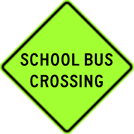 Image of a School Bus Crossing Sign (S3-3)