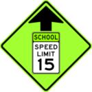 Image of a Reduced Speed (School) Zone Ahead Sign (S4-5)