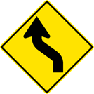 Image of a Left Reverse Curve Sign (W1-4L)
