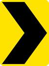 Image of a Chevron Alignment Sign (W1-8)