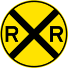 Image of a Railroad Warning Sign (W10-1)