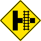 Railroad Crossing On Side Road Sign (W10-3)