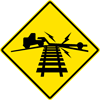 Image of a Low Ground Clearance Highway — Rail Grade Crossing Sign (W10-5)