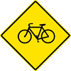 Image of a Bicycle Warning Sign (W11-1)