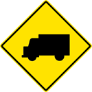 Image of a Truck Crossing Sign (W11-10)