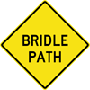 Image of a Bridle Path Sign (W11-104)