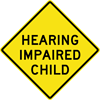 Image of a Impaired Child Sign (W11-108)