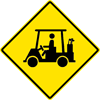 Image of a Golf Cart Crossing Sign (W11-11)