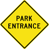 Image of a Park Entrance Sign (W11-13)