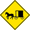 Image of a Horsedrawn Vehicle Sign (W11-14)
