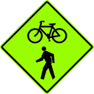 Combined Bicycle/Pedestrian Sign (W11-15)