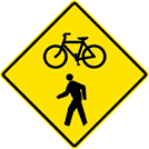 Image of a Combined Bicycle/Pedestrian Sign (W11-15)