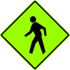 Image of a Pedestrian Sign (W11-2)