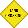 Image of a Tank Crossing Sign (W11-27)