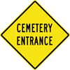 Image of a Cemetery Entrance Sign (W11-28)