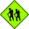 Image of a Hiker Crossing Sign (W11-2B)