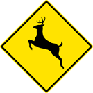 Image of a Deer Crossing Sign (W11-3)