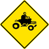 Image of a ATV Crossing Sign (W11-6-1)