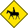 Image of a Equestrian Crossing Sign (W11-7)