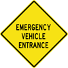 Image of a Emergency Vehicle Entrance Sign (W11-8-2)