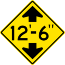 Image of a Low Clearance Sign (W12-2)
