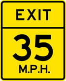 Image of a Advisory Exit Speed Sign (W13-2)