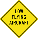 Image of a Low Flying Aircraft Sign (W14-13)