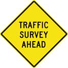 Image of a Traffic Survey Sign (W14-15)