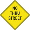 Image of a No Thru Street Sign (W14-2-1)