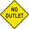 Image of a No Outlet Sign (W14-2)