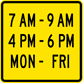 Image of a Effective Hours Panel (W14-20)
