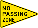 Image of a No Passing Zone Sign (W14-3)