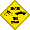 Image of a Share the Road Sign (W16-101)