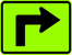 Image of a Advance 90 Degree Turn — Right Arrow Plaque (W16-6PR)