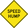Image of a Speed Hump Sign (W17-1)