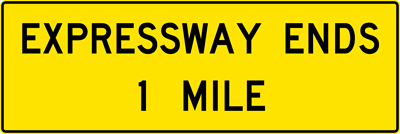 Expreesway Ends XX Mile(s) (W19-2)