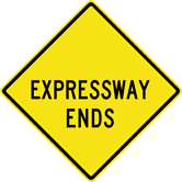 Expressway Ends Sign (W19-4)