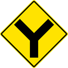 "Image of a ""Y"" Symbol Sign (W2-5)"