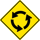 Circular Intersection Sign (W2-6)