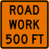 Image of a Rectangular Road Work Sign (W20-1S)