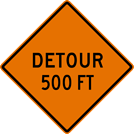 Image of a Advance Detour Sign (W20-2)
