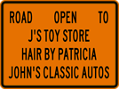 Image of a Road Open Sign (W20-3A)