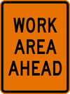 Image of a Rectangular Work Area Ahead Sign (W21-103)