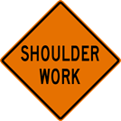 Image of a Shoulder Work Sign (W21-5)