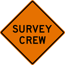 Image of a Survey Crew Sign (W21-6)