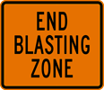 Image of a End Blasting Zone Sign (W22-3)